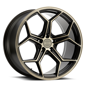 XO Wheels Helsinki 5 Dark Bronze w/ Brushed Bronze Face