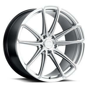 XO Wheels Madrid 5 Hyper Silver w/ Milled Spoke & Brushed Face