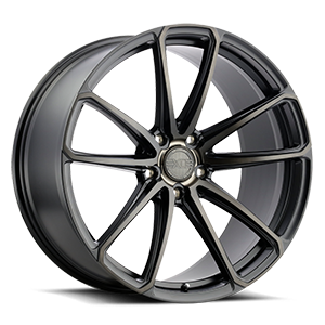 XO Wheels Madrid 5 Matte Black w/ Milled Spoke & Brushed Tinted Face