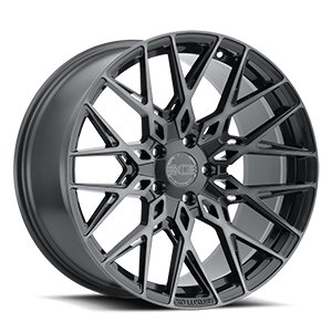 XO Wheels Phoenix 5 Gunmetal w/ Brushed Gunmetal Face