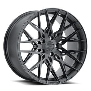 XO Wheels Phoenix 5 Double Black with Matte Black with Gloss Black Face