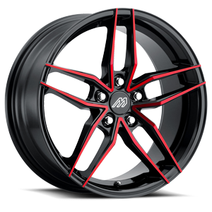 MP.51 Gloss Black Red Face 5 lug