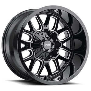 8107 Cogent Gloss Black Milled 6 lug