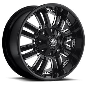 Mayhem Wheels Assault 8 Black with Chrome Inserts