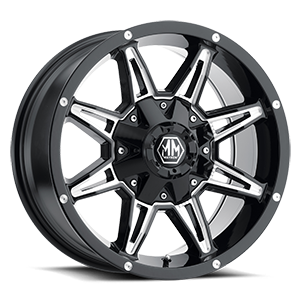 Rampage Black with Milled Spokes 6 lug