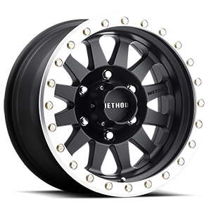 MR304 - Double Standard Matte Black and Machined Street Loc 6 lug