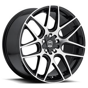 Motiv Luxury Wheels 409 Magellen 5 Mirror Machined Face with Gloss Black Accents