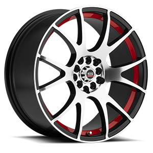 Spec-1 SP-02 5 Gloss Black Machined Red Line