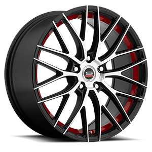 Spec-1 SP-17 5 Gloss Black Machined Red Line