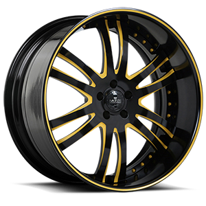 SV35-S Black and Yellow 5 lug