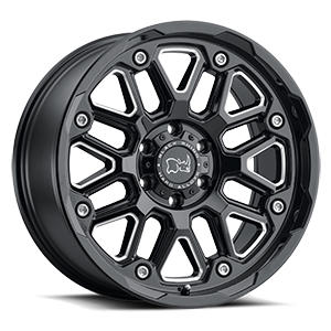 Hollister 6 Gloss Black w/ Milled Spokes