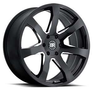 Mozambique 6 Gloss Black with Milled Spoke