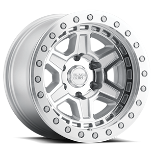 Reno Beadlock Silver with Mirror Face and Silver Bolts 6 lug