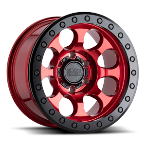 Riot Bead Lock - RF 6 Candy Red w/ Black Ring
