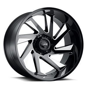T1B 8 Gloss Black w/ Milled Spokes