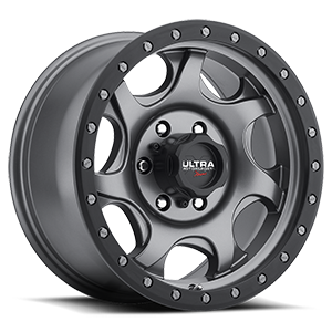 106 Sawblade Xtreme Satin Anthracite Grey with Satin Black X-Lok Lip 6 lug