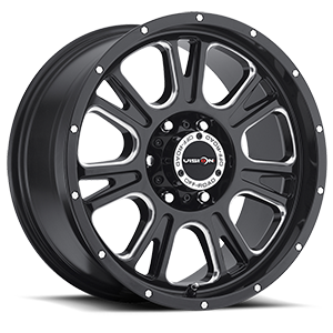 399 Fury 6 Gloss Black with Milled Spoke