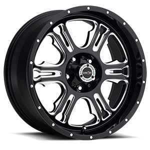 397 Rage 5 Gloss Black with Milled Spoke