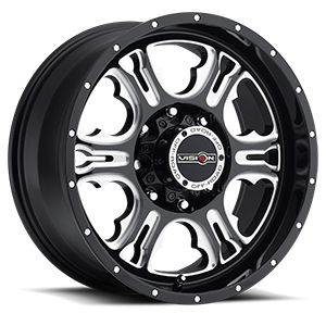 397 Rage 8 Gloss Black with Milled Spoke