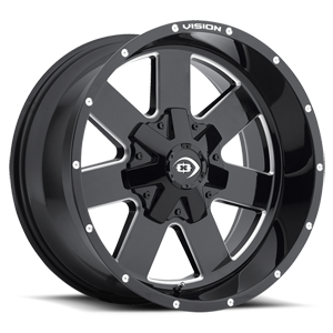 411 Arc 5 Gloss Black Milled Spokes