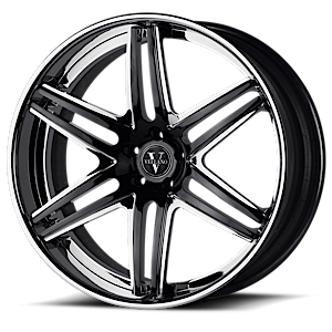 VKJ concave Matte Black Machined 6 lug