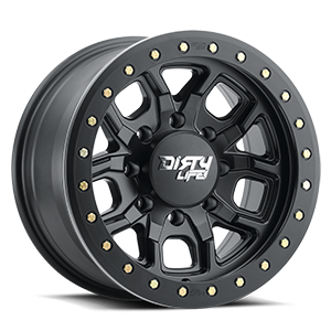 Dirty Life 9303 DT-1 8 Matte Black w/ Optional Rash Ring