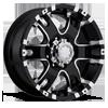 201-202 Baron Gloss Black with Diamond Cut Accents