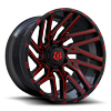 8 LUG 554 GLOSS BLACK WITH RED MILLING