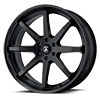 6 LUG ABL-32 KAISER SATIN BLACK W/ GLOSS BLACK LIP
