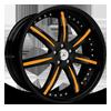 DA161 in Black with Orange Inserts