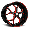 DA164 in Black with Red Trim