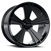 Missile Gloss Black Milled Spokes