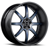 5 LUG BS3 BLACK W/ BLUE TRIM