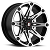 6 LUG 814 JESTER FLAT BLACK MACHINED