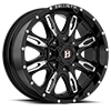 5 LUG 953 SCYTHE GLOSS BLACK W/ MILLED WINDOWS