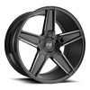 Cannes - M180 Gloss Black & Milled 20x10.5