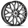 5 LUG CLV-37 GLOSS BLACK MACHINED