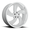 5 LUG DESPERADO 5 - U134 SILVER BRUSHED W/ DIAMOND CUT LIP
