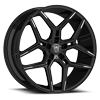 DS651 Gloss Black with Mirror Machined Spoke Tips