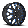 FF19D - Front Gloss Black w/ Trans Blue