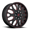 FF19D - Front Gloss Black w/ Deep Cherry Red