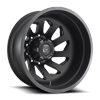 FF39D - 10 Lug Rear Matte Black w/ Gloss Black Accents
