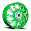 FF41D - Front Lollypop Green & Milled