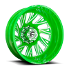 FF41D - Rear Lollypop Green & Milled