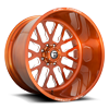 FF45 - 8 Lug Brushed Trans Copper & Milled
