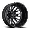 FF45D - Rear Gloss Black & Milled