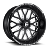 FF45 - 8 Lug Gloss Black and White