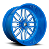 FF66 - 8 Lug Brushed Peeka Blue & Milled