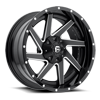 8 LUG RENEGADE - D265 BLACK & MILLED CENTER AND GLOSS BLACK OUTER