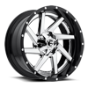 5 LUG RENEGADE - D263 CHROME CENTER AND GLOSS BLACK OUTER